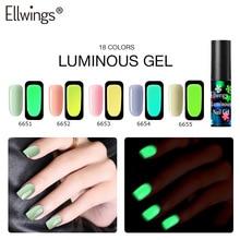 6ml Luminous Nagel Gel Polnisch Hybrid Lack Long Lasting Glow In der Nacht UV LED Leuchtstoffröhre Nagel Gel Kunst lack