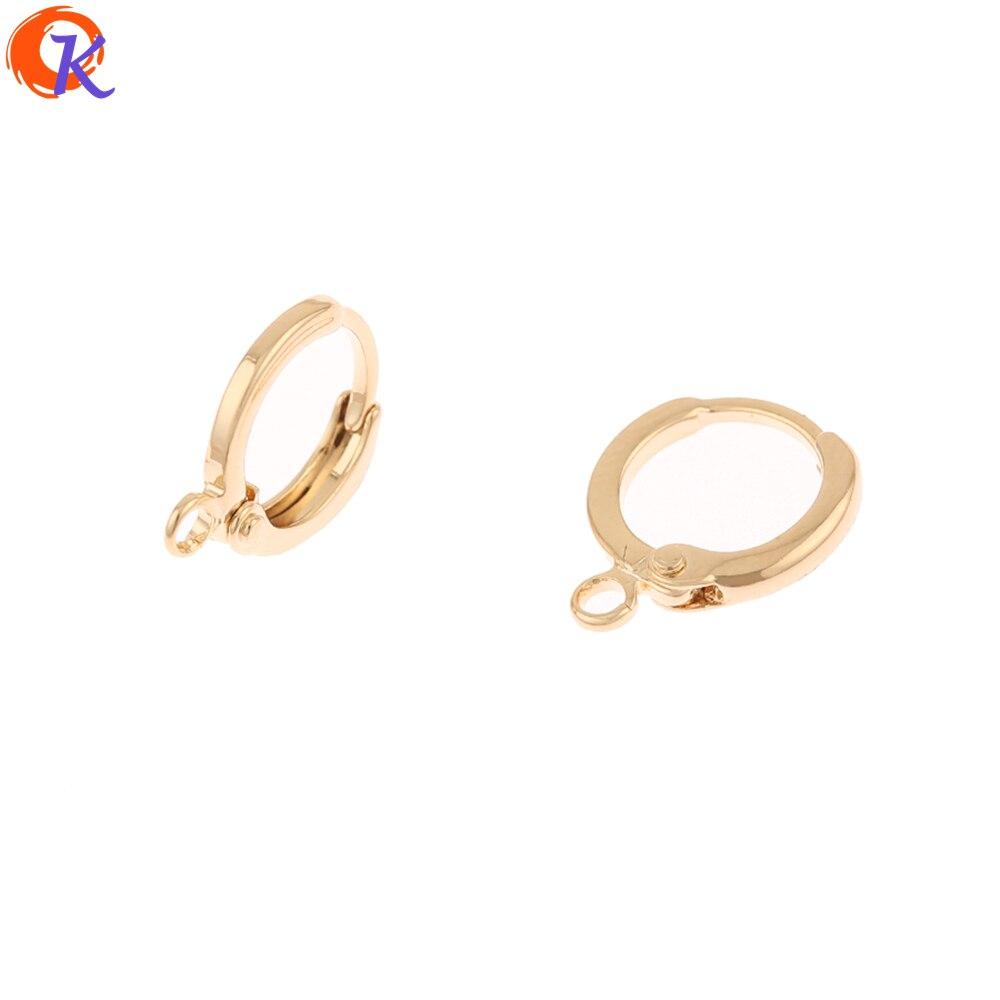Design cordial 100 pçs 11*14mm acessórios de jóias/diy/genuíno chapeamento de ouro/feito à mão/jóias descobertas componente/brincos ganchos
