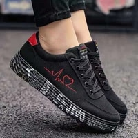 womens fashion vulcanized shoes sports shoes womens lace up casual shoes canvas lover flat bottom graffiti shoes zapatos home