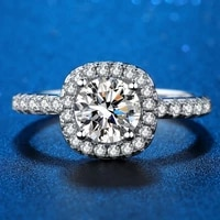wholesale new fine jewelry factory high quality real s925 sterling silver rings luxury finger ring jewel accessories engagement