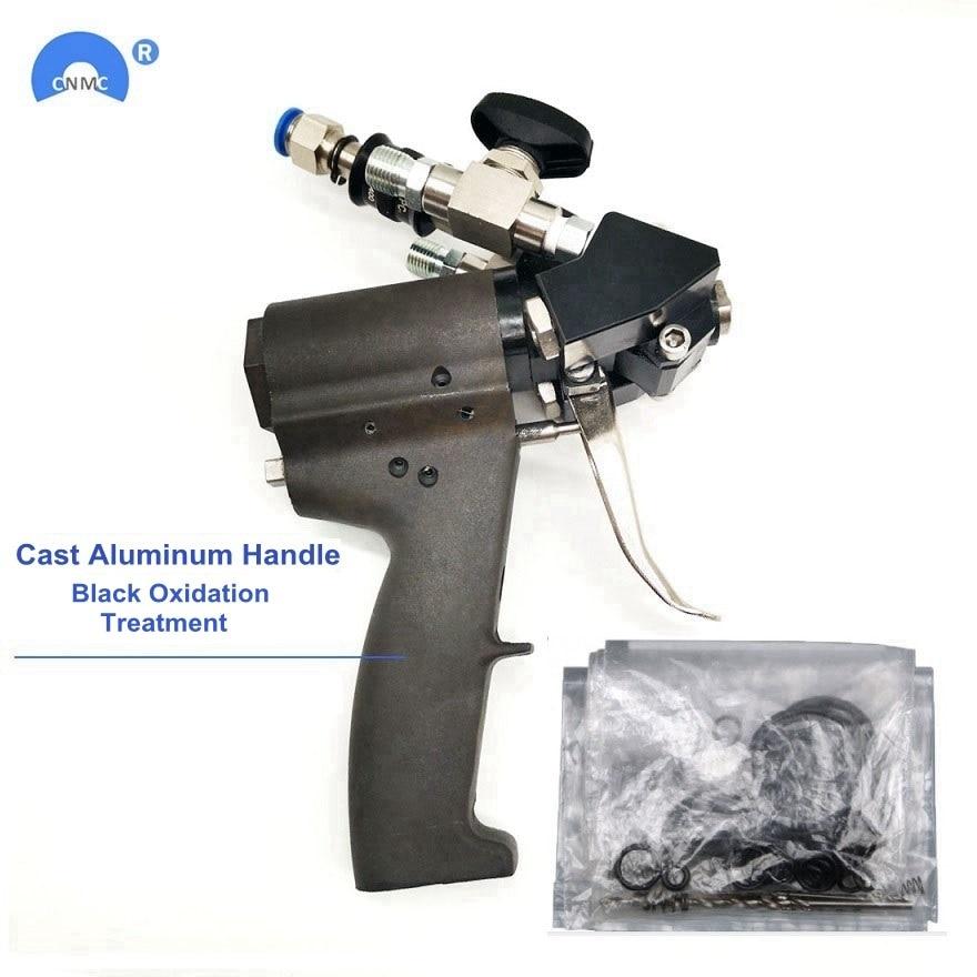 مسدس رش بمقبض من الألومنيوم ، مسدس رش من البولي يوريثان ، تطهير الهواء ، تنظيف ذاتي مع مجموعة ملحقات ، P2