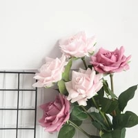 sunshine rose artificial silk flowers for home decoration wedding bouquet for bride high quality fake flower faux living room