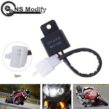 Ns modify relé eletrônico 12a 2pin, pisca-pisca com led para honda kawasaki suzuki yamaha, motocicleta, motor, lâmpada de seta, hyper flash