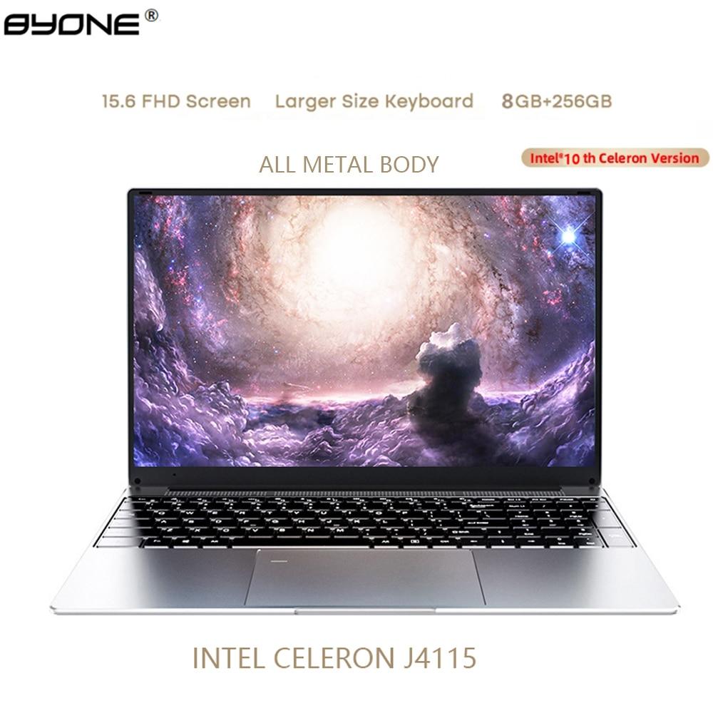 Review BYONE Intel Celeron 4115 15.6 inch Laptop 8GB RAM 256G 512GB SSD Notebook Windows 10 pro Computer Portable Laptop 1080*1920