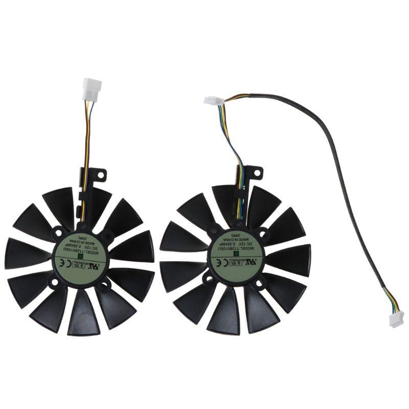 87mm refrigerador do ventilador de refrigeração com 11 lâminas para A-SUS gtx1080ti p11g rx470 placa de vídeo
