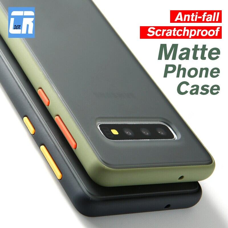 Liquid edge Matte Protection PC Case for Samsung Galaxy Note 10 S10 Plus A70 A50s A30 A20E A10 A40s M10 A30 Bumper Phone Case
