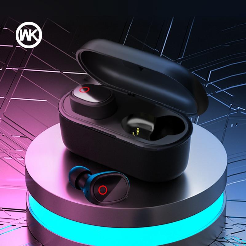 WEKOME-سماعة رأس بلوتوث لاسلكية V20 TWS 5.0 ، سماعة رأس استريو ثلاثية الأبعاد ، لأجهزة iPhone و Xiaomi و Huawei و Samsung