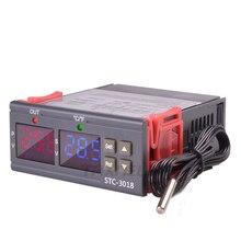 STC-3018 12V 24V 220V Digital Temperature Controller C/F Thermostat 10A Relay Thermoregulator Heating Cooling Digital Display