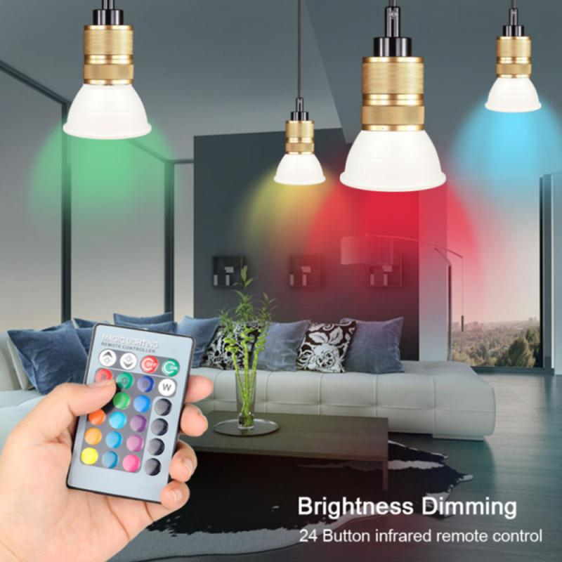 LED smart light bulb RGB dimmable color-changing light with remote control infrared remote control light bulb
