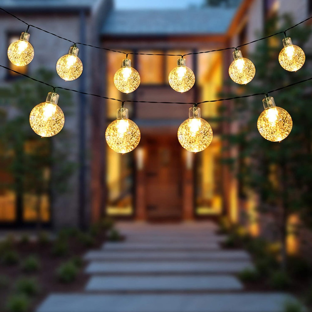Outdoor Garden Street LED 100LM Bulb Solar Energy String Light As Christmas Decoration Lamp For Home Indoor Holiday Lighting new portable solar panels charging generator power system home outdoor lighting for led bulb