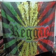 Jute Reggae Rock Band Poster Banner 4 Gaten Opknoping Vlaggen 56X36 Inches Games Biljart Hall Decor Muur Achtergrond