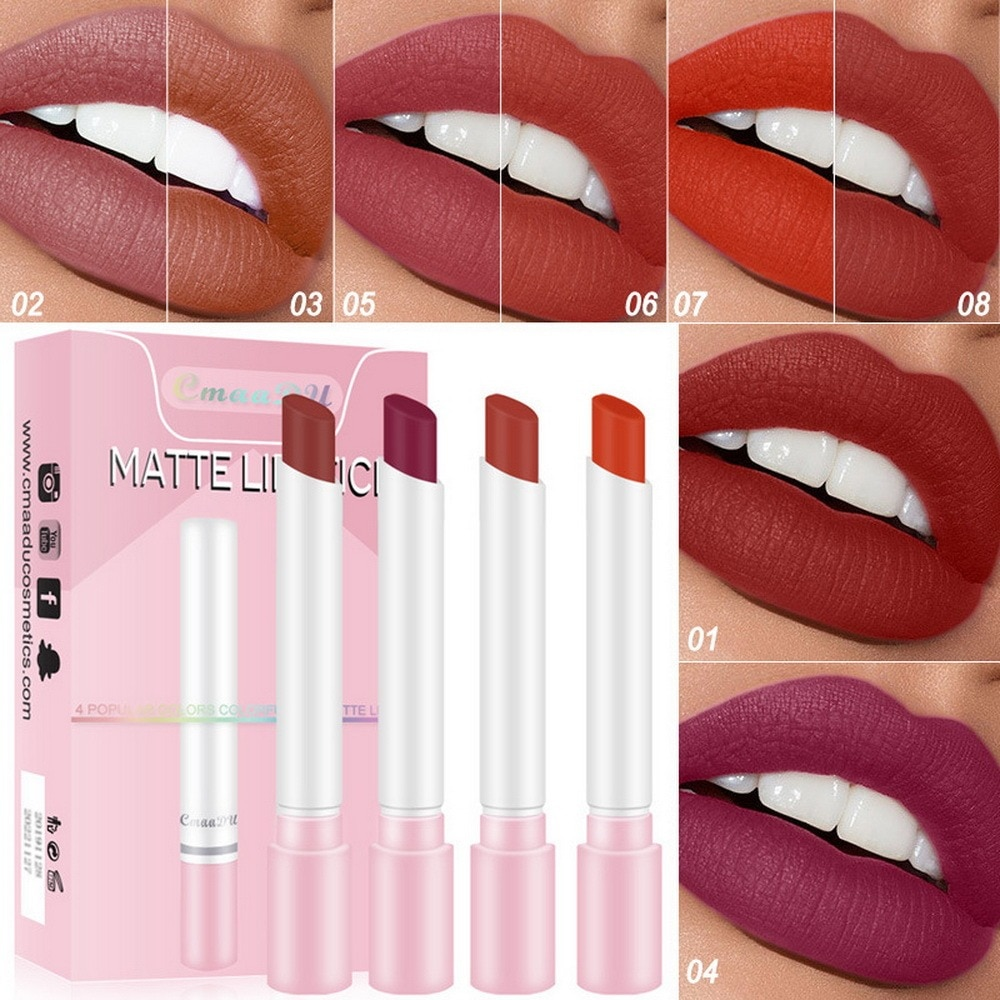 Cigarette Lipstick Matte MakeUpTobacco Tube Lipstick Lip Stick Long Lasting Lip Cosmetic Tool exquisite make  your lips lightly
