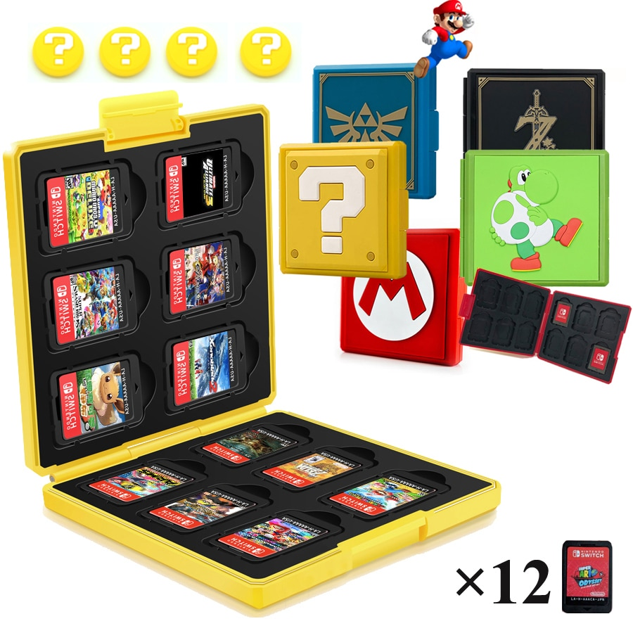 12 in 1 Nintend Switch Game Card Case Pattern Hard Protective Cover Storage Box for Nitendo NintendoSwitch Nintendo Accessories недорого