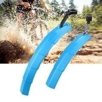lightweight cycling supplies high strength mtb mudguard with warning light for mountain bike