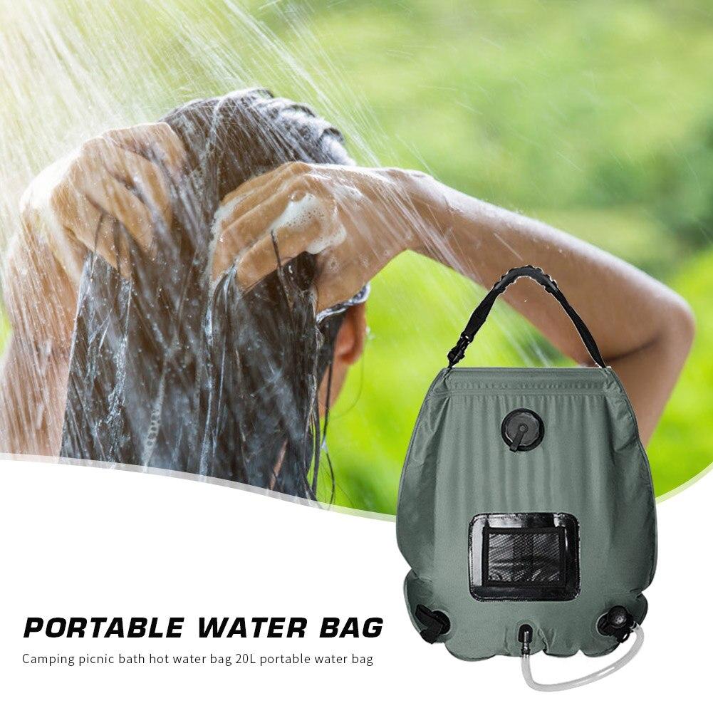 Bolsa de Banho Acampamento ao ar Água para a Família Chuveiro Aquecido Solar Livre Caminhadas Viagem Pvc Bolsa Acessórios 20l