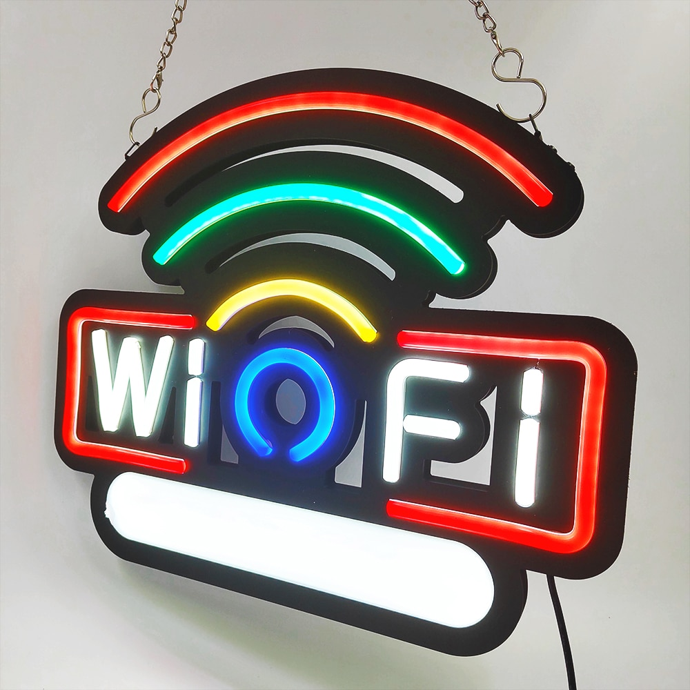 Led Neon Light Sign Free WIFI Neon Bulb sign Arcade handcraft Beer Bar Restaurant Business Store Display Decorate Open Sign enlarge