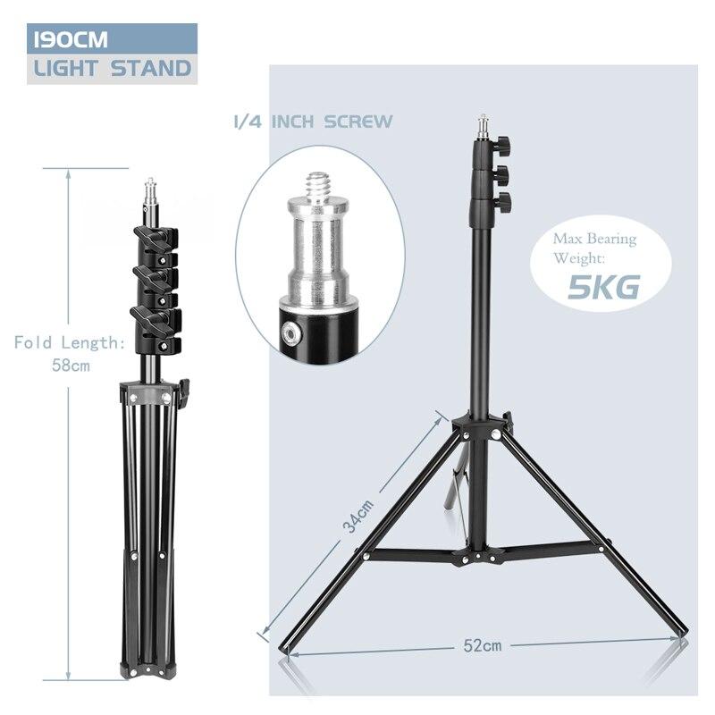 Liga de alumínio resistente ajustável do suporte da iluminação video da foto do suporte da luz de 2m para o equipamento macio do estúdio da fotografia da caixa