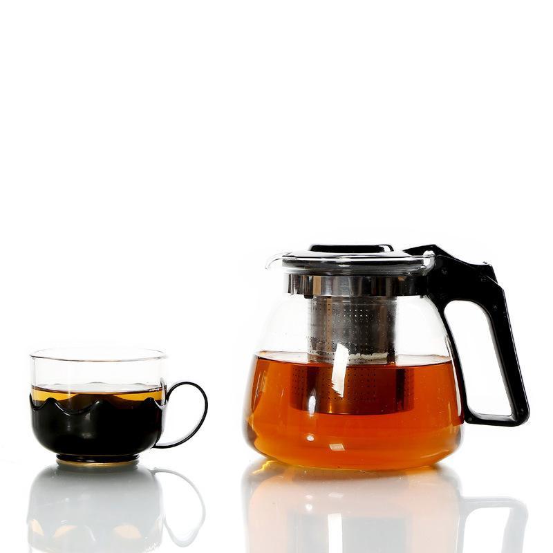 طقم شاي زجاجي محمول ، طقم طقم شاي للسفر ، إبريق شاي زجاجي مقاوم للحرارة ، أكواب شاي ، غلاية ، أدوات مطبخ ، إكسسوارات مشروبات
