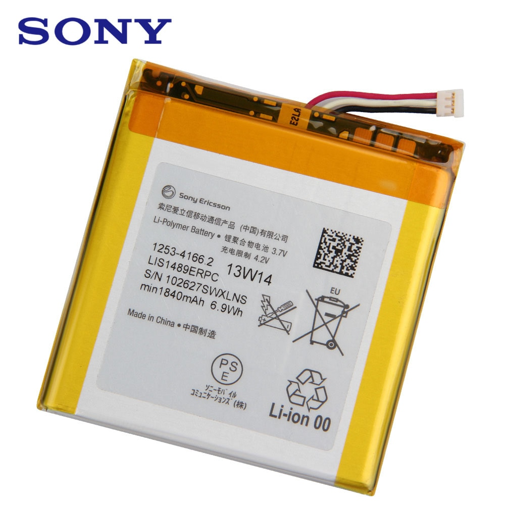 Original Replacement Sony Battery LIS1489ERPC For SONY LT26 LT26w Xperia acro HD SO-03D Authentic Phone Battery 1840mAh enlarge