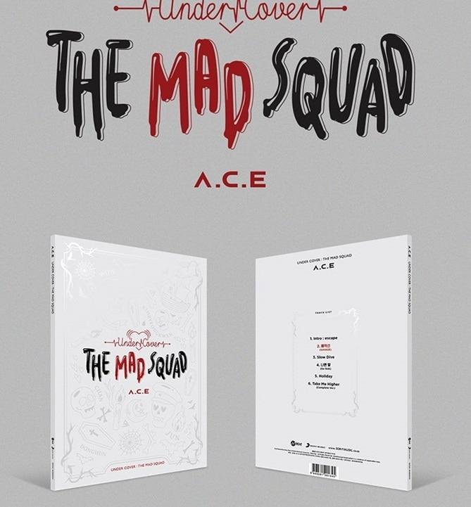 [MYKPOP] ~ 100% Официальный оригинал ~ А. С. Е. 3-й мини-альбом-под обложкой THE MAD SQUAD, KPOP Fans Коллекция-SA19112903