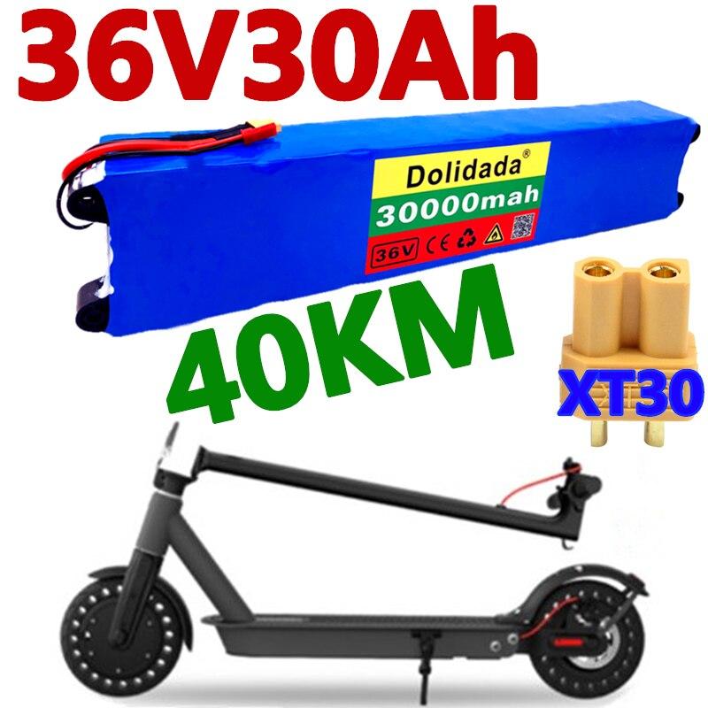 مجموعة بطارية دراجة آلية 100% بقدرة 36 فولت بقدرة 30 أمبير في الساعة لشاومي Mijia M365 بطارية بقوة 36 فولت 30000 مللي أمبير في الساعة دراجة كهربائية سكوتر...