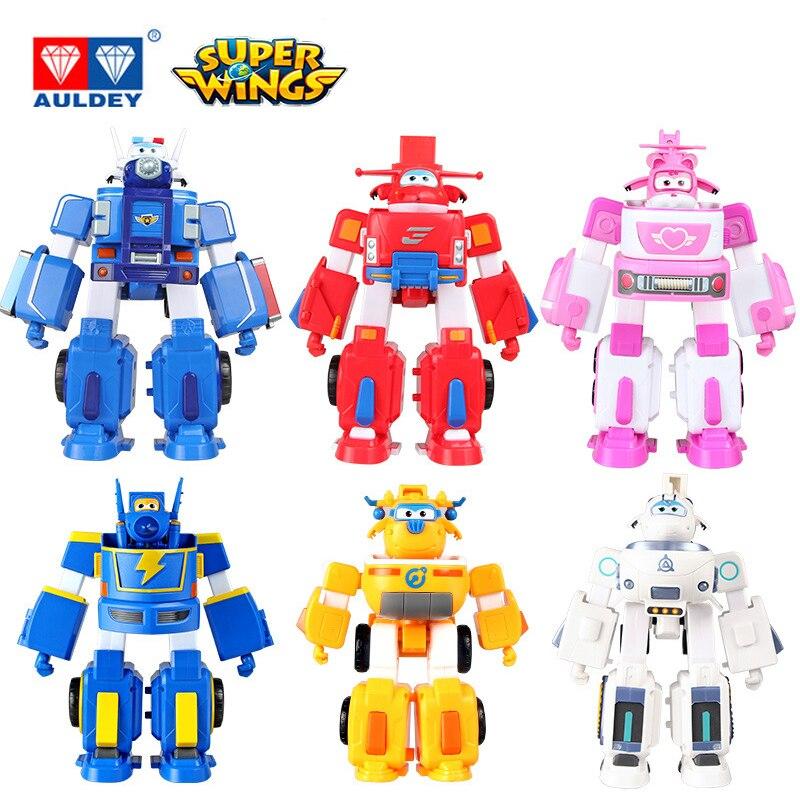 17cm AULDEY armadura superalas deformación rescate figuras de acción de Robot Super Wing transformación motores de fuego juguetes para niños