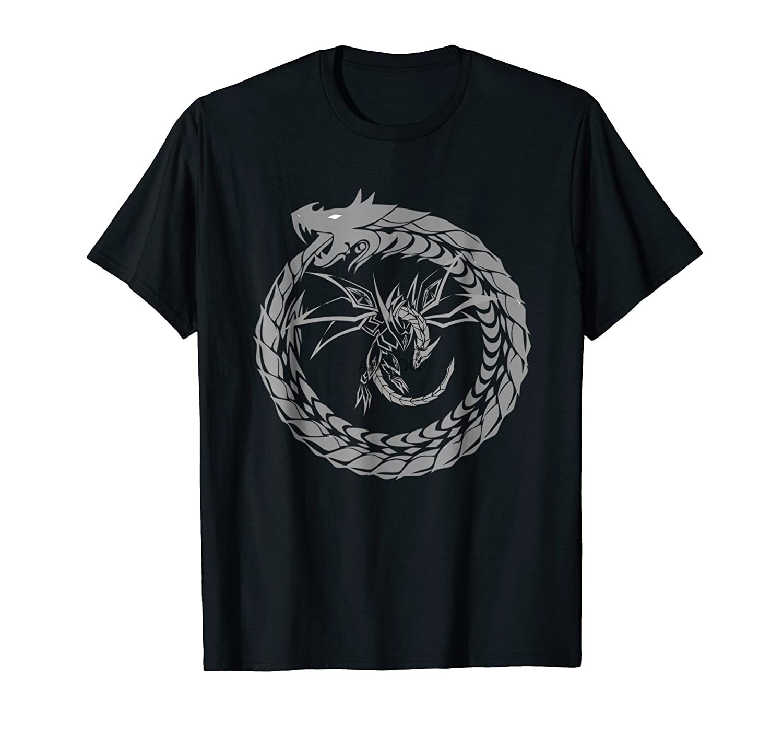 Camiseta da arte gráfica do dragão da serpente impressionante