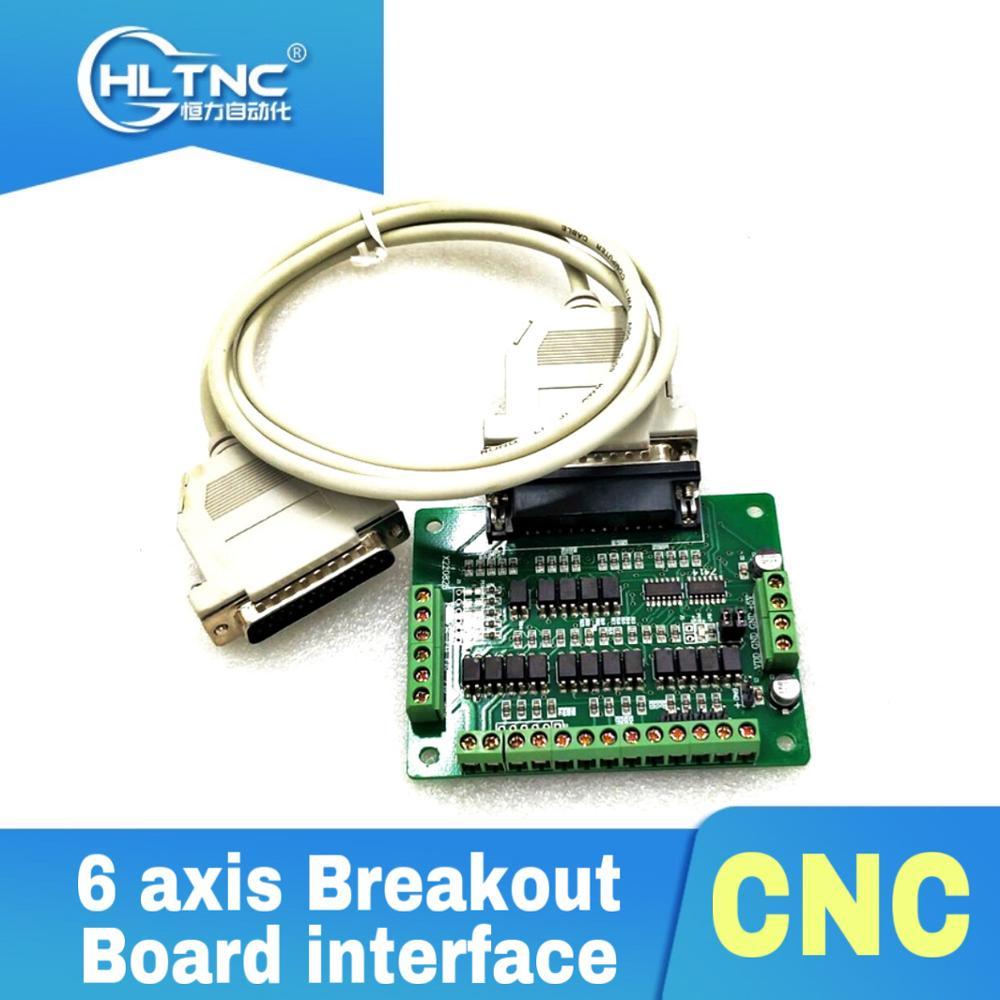 1 * cabo paralelo db25 1 * adaptador de interface de placa de fuga de 6 eixos cnc