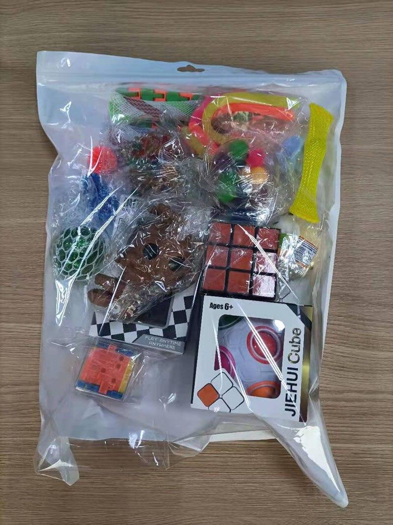 Fidget Sensory Toy Stress Anxiety Relief Autism Toys Set Pops it Push Bubble Fidget Sensory Toys Kids Adults Decompression Gift enlarge