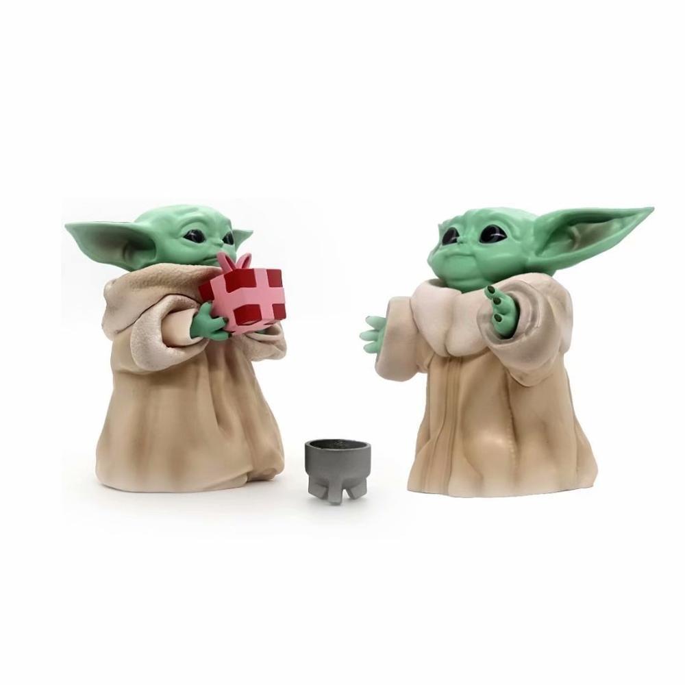 Figura de acción de Star Wars, Baby Yoda, Maestro Yoda de Star Wars de película de Anime de 100mm, modelo de juguetes para bebé