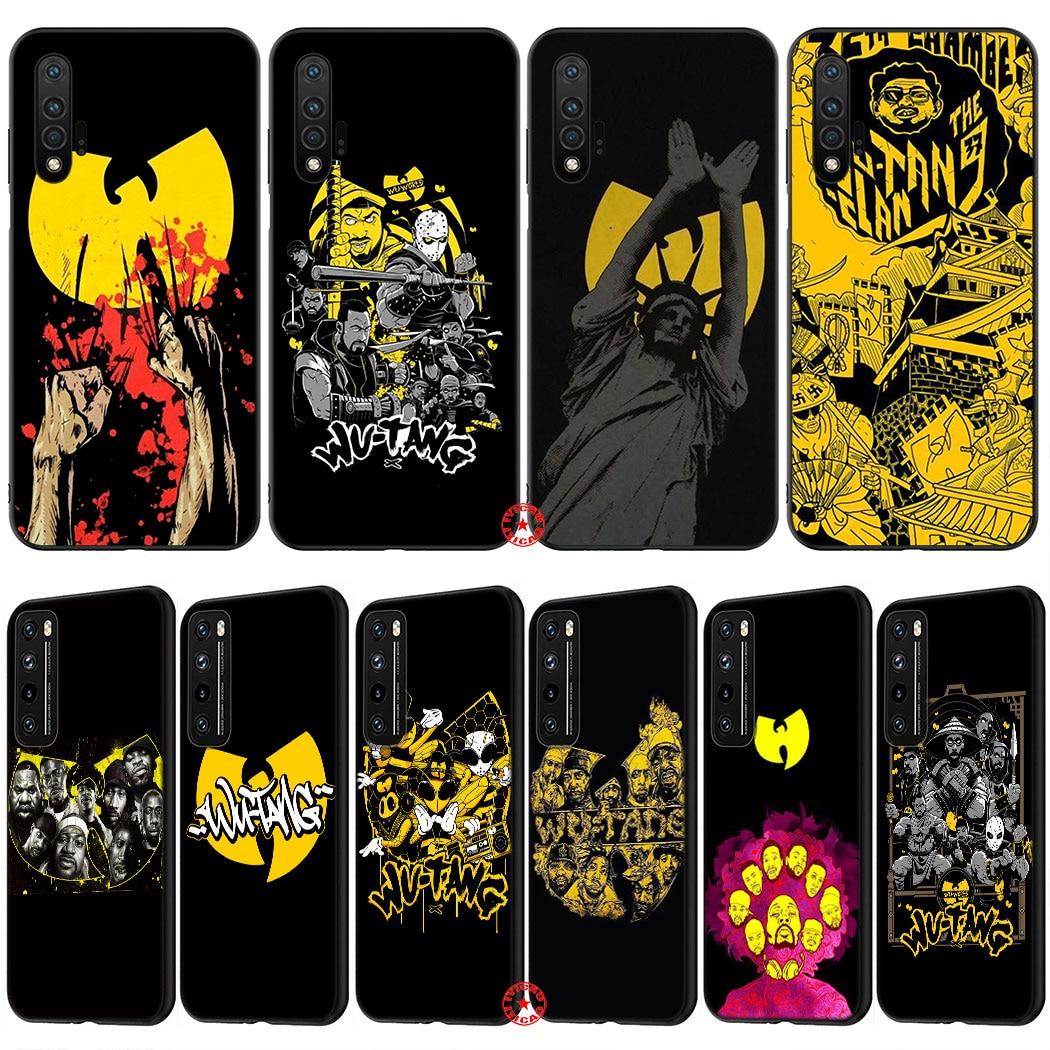 IL59 WuTang de silicona suave funda del teléfono para Huawei Nova Smart 7 5 Pro iPhone 6 5T 5i 4E 4 3 3i 2i 2 Mate 30 Pro Lite