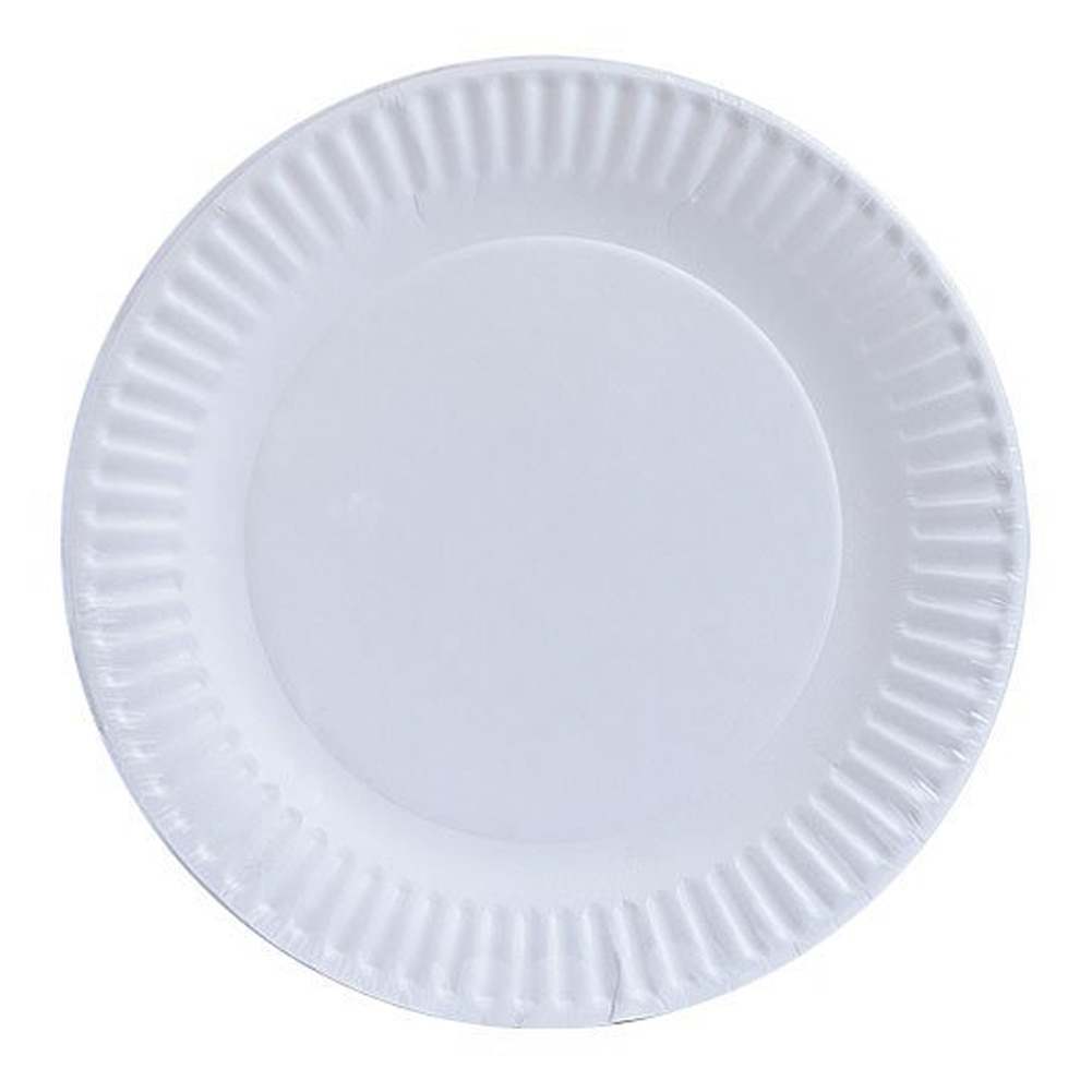 100 Pcs Paper Plates Disposable Plates Thicken Plates Paper Dishes For Wedding Birthday Party Christmas Compostable Plates White 40pcs unicorn paper plates large 23cm plates baby shower bbq summer party decor birthday party paper plates wedding decoration