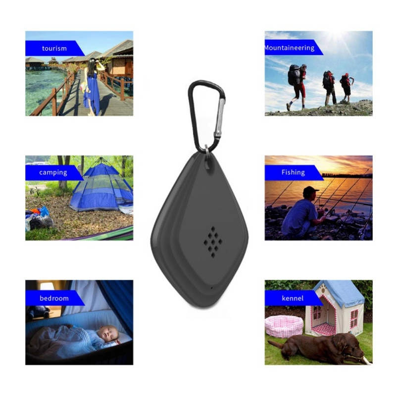 1pc Ultrasonic  Mini Mosquito Repeller Portable Hanging Non-Toxic Electronic Pest Killer For Outdoor Travelling USB Rechargeable