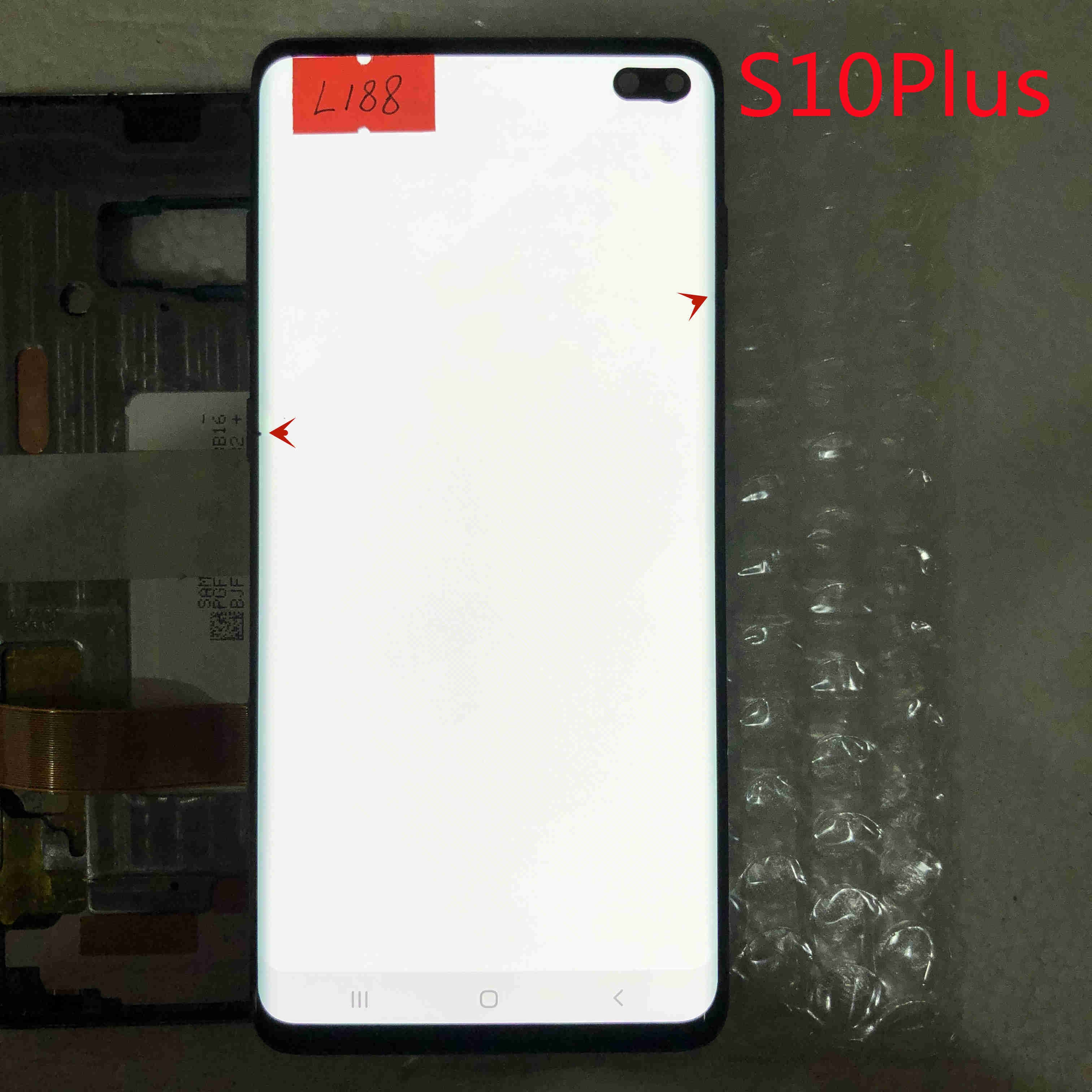 Original Super AMOLED Touch screen For Samsung Galaxy S10+ G975F S10 PLUS G975U LCD With frame Display With lines or dots enlarge