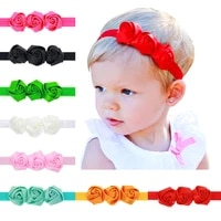 dreamily rose flower headbands crown unisex toddler baby photo props wrap beanie headpiece hairbands