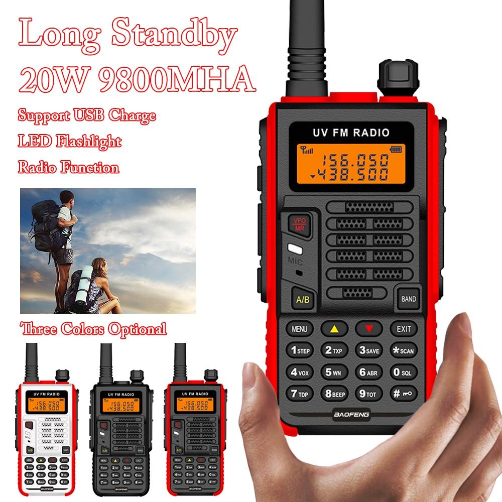 BaoFeng X5 Plus Powerful Walkie Talkie CB Radio Transceiver 20W 10km Long Range Up Of UV-5R Portable Radio Hunt City 128 Channel