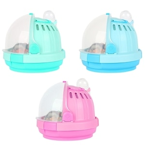 Small Pet Handheld Hamster Cage Portable Travel Carrier Outdoor Carrying Case with Water Bottle for Guinea Pig Hedgehog