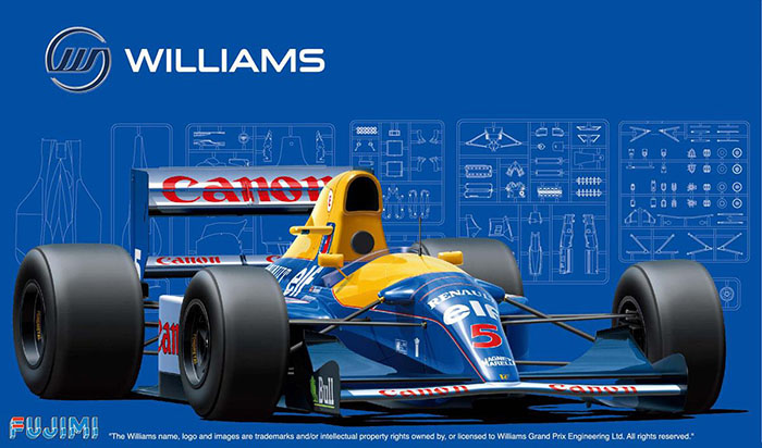 1/20 FUJIMI سيارة تجميع البلاستيك نموذج F1 ويليامز FW14B 1992 لتقوم بها بنفسك مجموعة تجميع #09197
