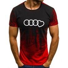 Nouveau Tot vente grande taille t-shirt hommes dégradé couleur à manches courtes imprimé drôle T-Shirts été mode Hip Hop hommes t-shirt petit haut