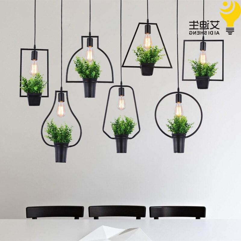Lámpara colgante moderna de planta maceta deco de moda de pantalla nórdica...