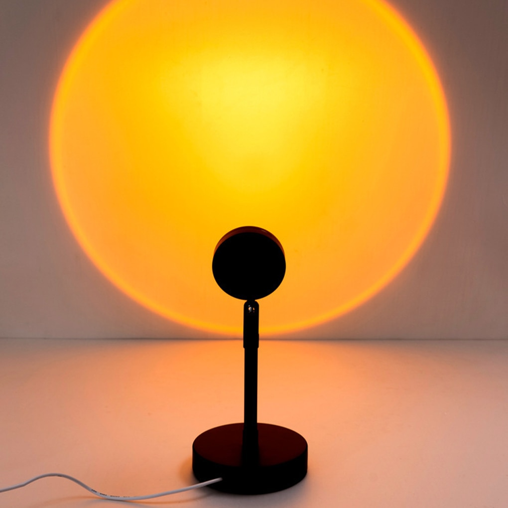 Sunset Lamp Rainbow Atmosphere Led Night Light USB Sunset Projector Lamp Bedroom Decor Background Home Decoration Colorful Lamp