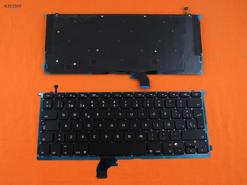 SP الإسبانية الجديدة استبدال لوحة المفاتيح لابل ماك بوك برو A1502 الأسود للوحة الخلفية مفتاح إدخال كبير
