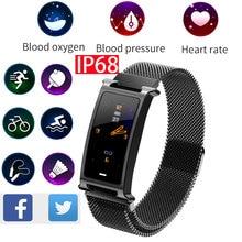 health bracelet fitness smart watch pulse pressure activity tracker blood in Russian sport band arterial measurement wristband
