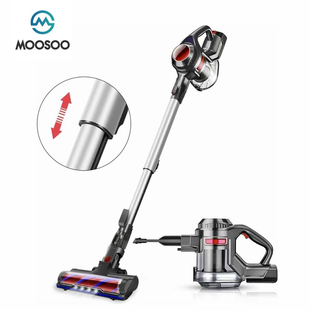 MOOSOO X6 يد مكنسة كهربائية 12000Pa قوة شفط قوية عصا اليد عصا اللاسلكي الشافطة 1.2L 100 واط فراغ لاسلكي