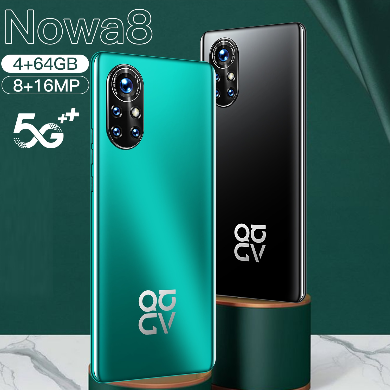 Global Version HUAWE Nowa8 4G 5G LTE Snapdragon888 Smartphone Deca Core Mobile Phone NFC Dual SIM Sansumg Cellphone