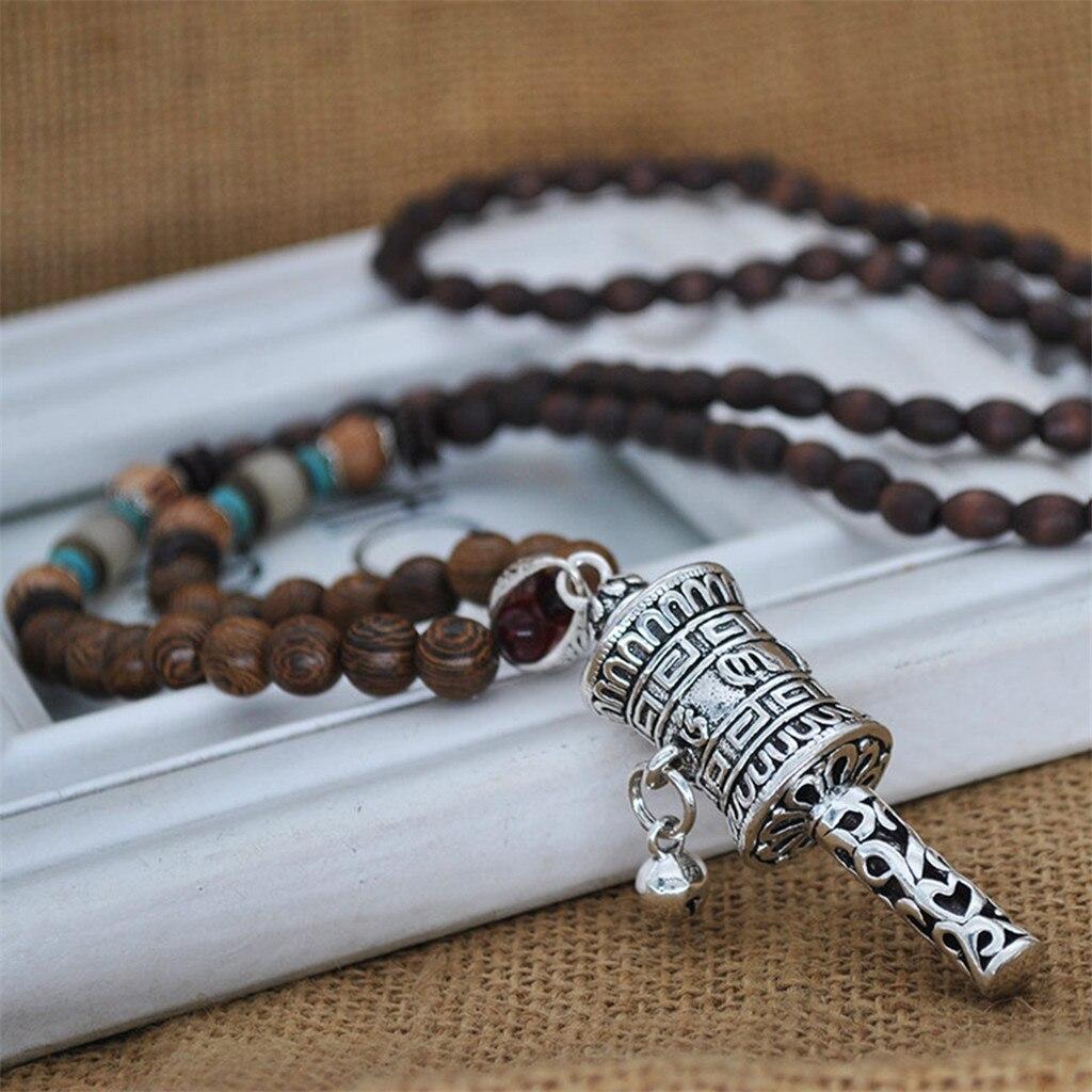 Nepal budista perla mala colgante Collar étnico cuerno peces mucho joyería vestido declaración accesorio de Collar de moda Модное ожерелье