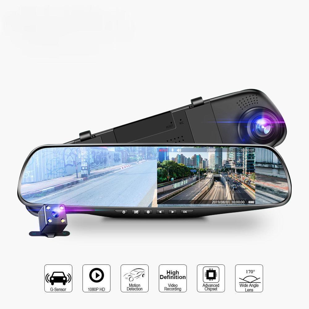 4,3-дюймовый автомобильный видеорегистратор, видеорегистратор Full HD 1080P, семейная автомобильная камера, циклическая запись, отслеживание дви...