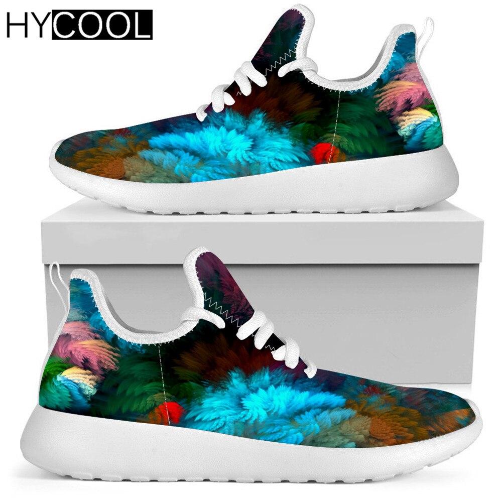 HYCOOL nuevo verano Unisex ligero deporte Zapatillas pintura abstracta Arte colorido zapatos...