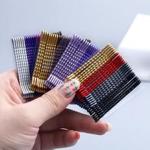 Pinzas para el pelo onduladas de Metal, pasadores multicolores de 5cm, horquillas de moda, pasadores invisibles de onda, accesorios para el cabello, 24 Uds.