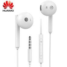 100% оригинал, HUAWEI AM115, 3,5 мм, полупроводниковая гарнитура с микрофоном/регулятором громкости для Huawei P9 P10 P20 P30 Lite, телефонов Honor 8 9 10
